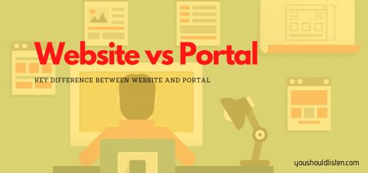 Website vs portal