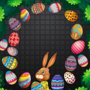 Easter Eggs Frame