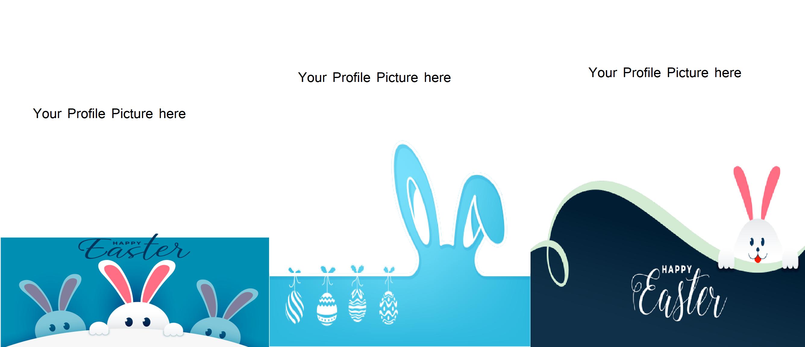 Easter bunny profile frame